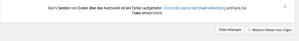 Youtube Meldung - (Youtube, Video, Upload)