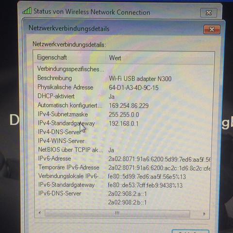 Ein paar Daten - (ipv6, DNS Server, ipv4)