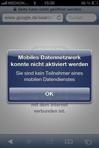 Der Screeshot - (Aldi-Talk, internet-flat)