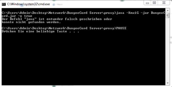 Warum Geht Die BungeeCord Start Datei Nicht Minecraft Startbat - Minecraft bungeecord server erstellen
