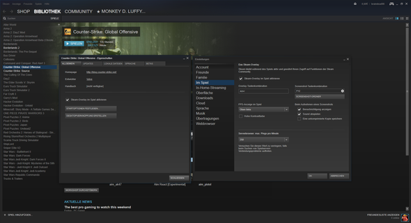 Steam Einstellungen - (PC, Steam, CS:GO)