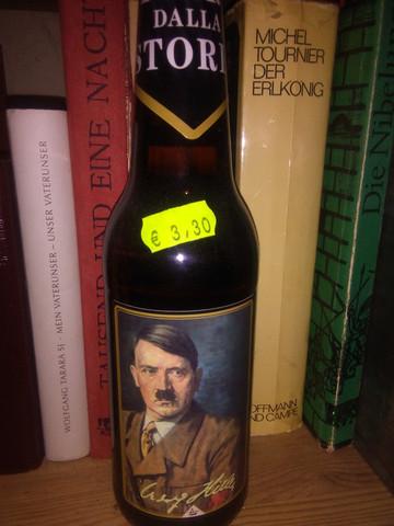 Hitler-Bier für 3,30€, der Wein kostete 8,80€. Unterdrückte Botschaften?!!!!! - (Italien, Bier, Hitler)