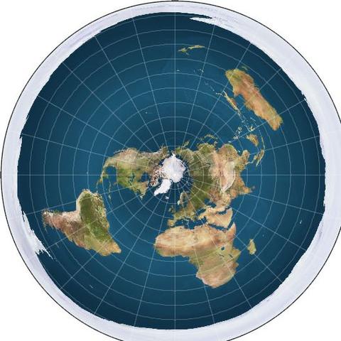 Bild der Erde aus Sicht der Verschwörungstheoretiker - (Natur, Erde, Astronomie)