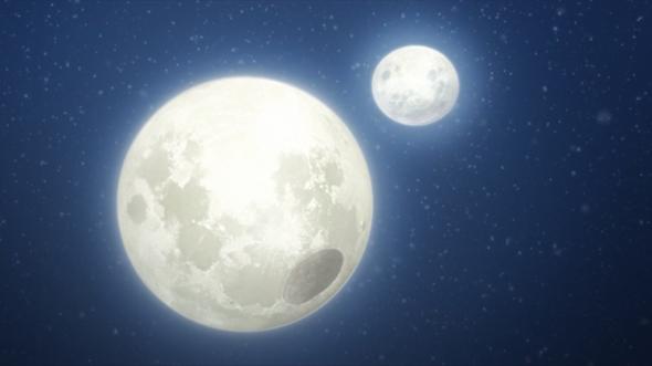 Warum gibt es zwei Monde in Boruto?