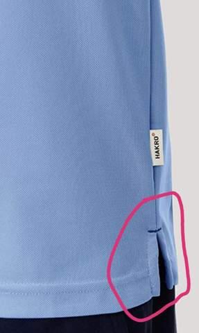 Warum haben die meisten Poloshirts einen Seitenschlitz?