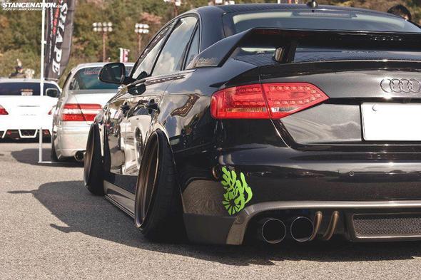 Warum haben getunte autos so schiefe räder? (bilder)