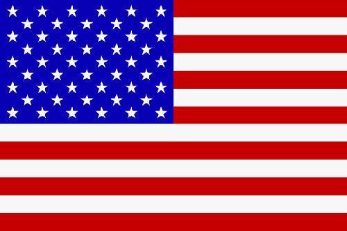USA Flagge - (Freizeit, Sterne, fünf Zacken)