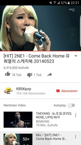 Warum haben sie geweint ?  - (Freizeit, 2NE1, Come back home)