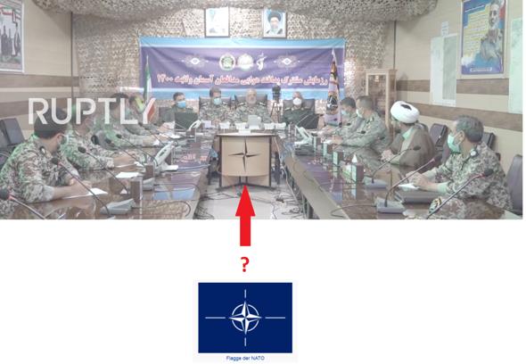 Warum hat der Iran die Flagge der NATO für seine jüngste Militärübung verwendet?