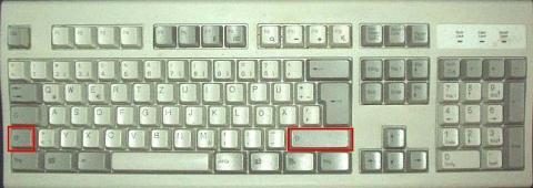 2 Umschalttasten o.O - (Computer, PC, Tastatur)