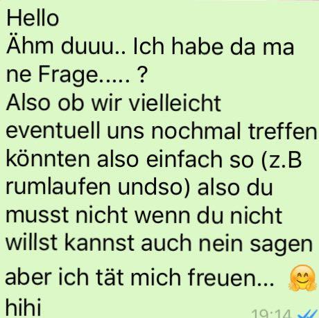 Hier das habe ich geschrieben :)   - (Liebe, WhatsApp, verliebt)