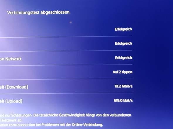 Warum hat meine PS5 Abends wenig Mbits?