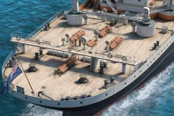 Warum hatte die Titanic am Heck noch ein Steuer?