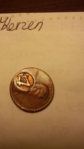 Eine Amerikanische ein cent Münze - (Muenzen, illuminati, Freimaurer)