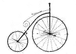 Hochrad - (Fahrrad, Hochrad)