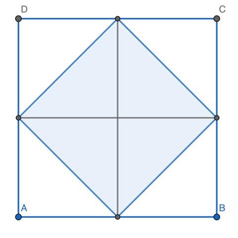 Warum ist das Quadrat außen doppelt so groß wie das Quadrat innen?
