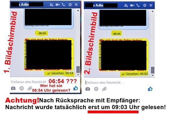 Unterschiedliche Lesezeiten einer Facebook-Nachricht - (Facebook, lesen, Nachrichten)