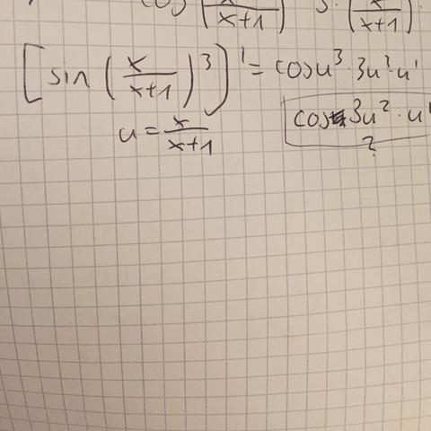 Warum ist nicht die Ableitung mit dem Fragezeichen richtig? - (Mathe, Ableitung, lk)