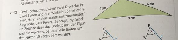 Warum ist die Aussage der unten gezeigten Aufgabe falsch?