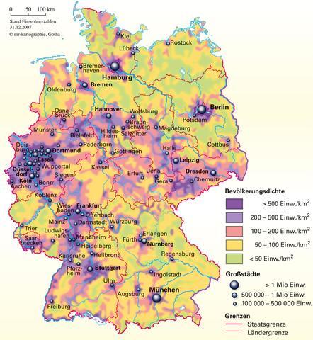 warum ist die bev lkerungsdichte in deutschland 39 s norden so niedrig schule deutschland erdkunde. Black Bedroom Furniture Sets. Home Design Ideas