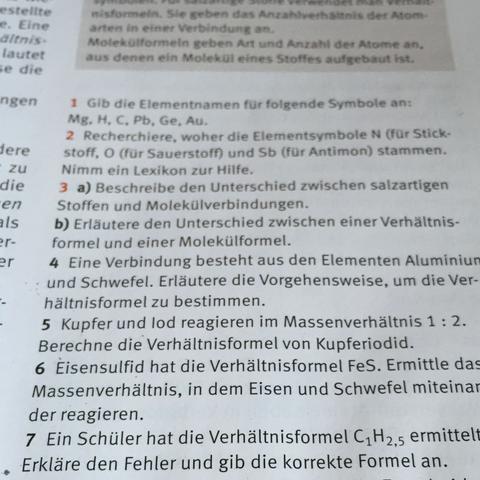 Die Nr 7 ! - (Chemie, Formel, Wasserstoff)