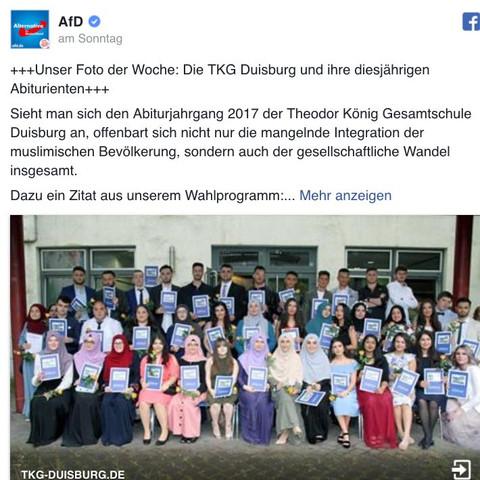 AFD Post - (Menschen, Politik, Abitur)