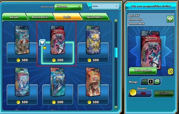 Das Deck - (online, Fehler, Pokemon)