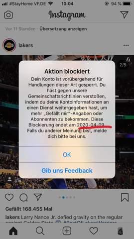Instagram entblocken personen auf blockierte Instagram blockierte