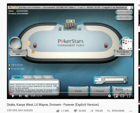 Online Poker Geld