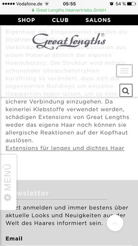 Internetseite von Great Lengths - (Haarverlaengerung, great-lengths)