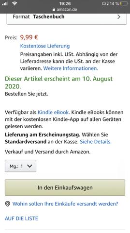 Amazon vorbestellung gutschein