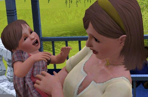 Sims 3 Kleinkind interagiert mit Sims 3 Mama - (PC-Spiele, Sims 3)