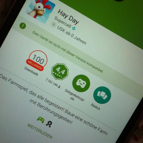 Hmm? Steht bei mehreren Spielen .  - (Samsung, Play Store)