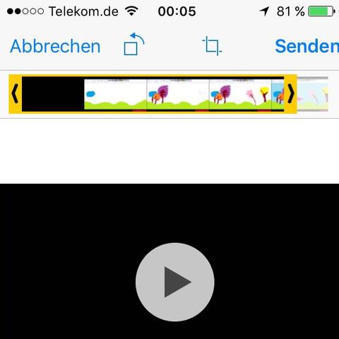 """Der gelbe """"Balken"""" begrenzt meine Video länge - (Video, WhatsApp)"""