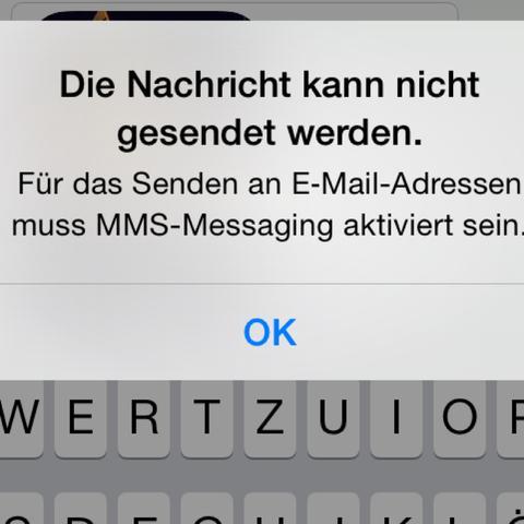 sms konnte nicht senden