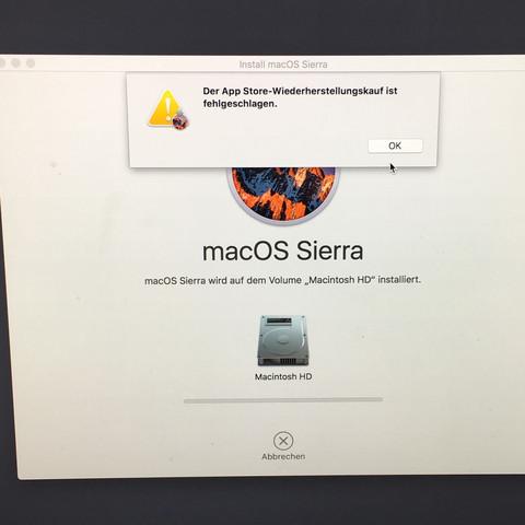 betriebssystem mac neu installieren ohne cd