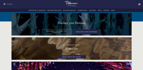 Website Pottermore.com - (Website, Test, Harry Potter)