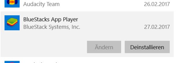 """Button """"ändern"""": - (Windows 10, Einstellungen)"""