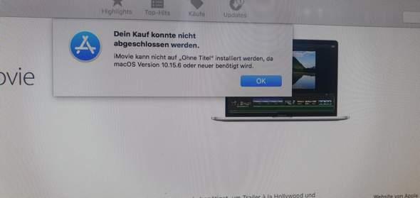 Warum kann ich nicht Imovie auf meinem Mac Downloaden?