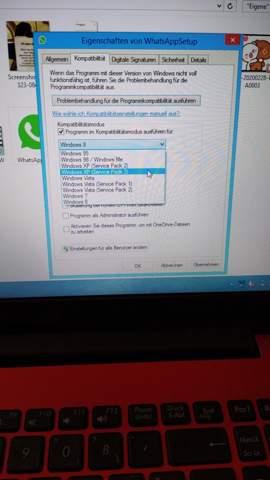 Warum kann ich WhatsApp Web nicht auf Windows XP installieren?