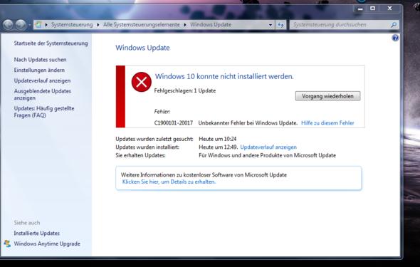 Fehlermeldung - (Windows, Windows 7, Fehler)