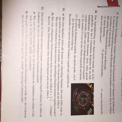 Die Aufgabe 11 - (Schule, Mathe, Mathematik)