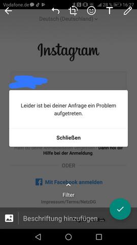 - (Passwort, Instagram account)