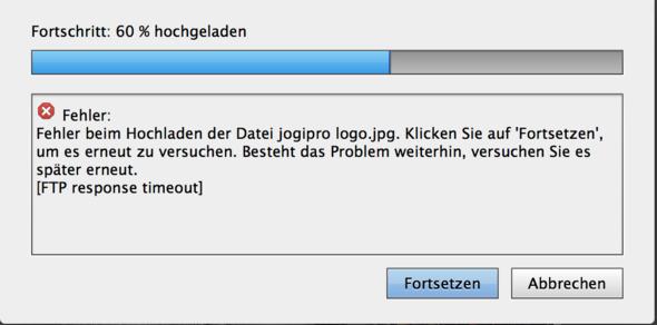 Fehlermeldung - (Webseite, Adobe, ftp)