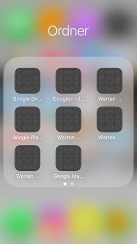 """entweder es steht """"warten"""" oder der Name der App aber man kann sie nicht öffnen  - (Technik, App, Installation)"""