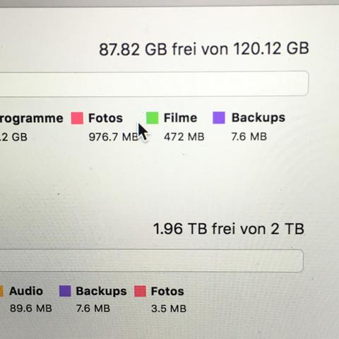 Beide Festplatten haben eigentlich noch viel Platz - (Computer, Programm, Software)