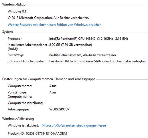 Systemdaten - (Windows, Notebook)