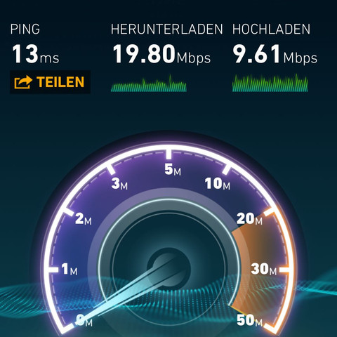 Leitung an repeater  - (Internet, WLAN, repeater)