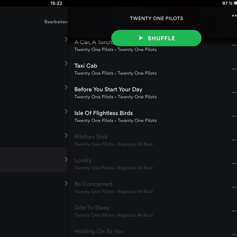 Playlist auf Spotify  - (Spotify, Twenty One Pilots, nicht abspielbar)