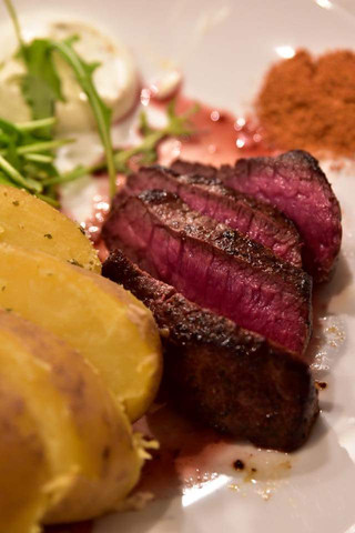 - (essen, steak)